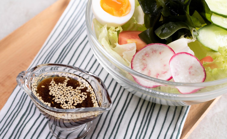 วิธีทำน้ำสลัดซีอิ๊วญี่ปุ่นงา